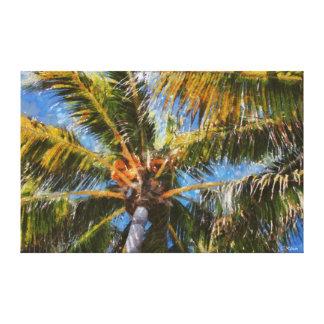 Key West Palm Trees Wrapped Canvas Art