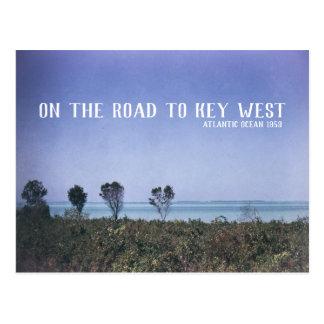 Key West Retro Travel Image Atlantic Ocean Blue Postcard