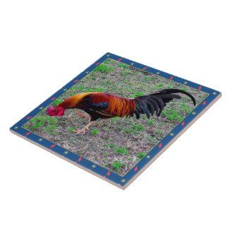 Key West Rooster Tile