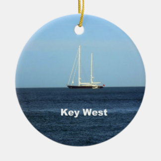 Key West Round Ceramic Ornament
