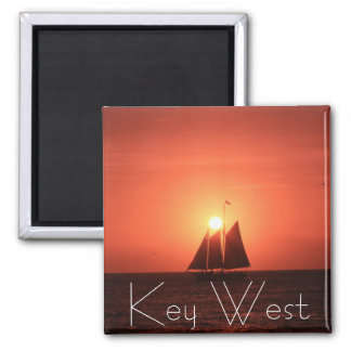 Key West, Sailboat at Sunset Magnet