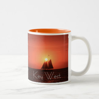 Key West, Sailboat at Sunset Mug