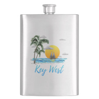Key West Sailing Hip Flask