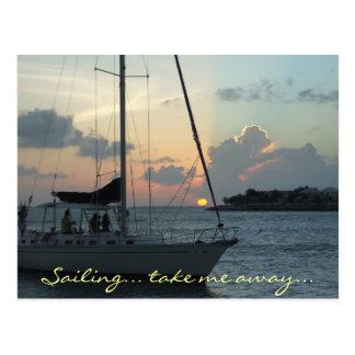 Key West sailing postcard (h)