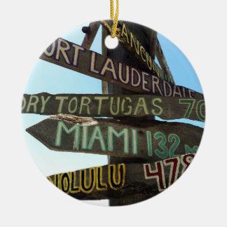 Key West Signs Ceramic Ornament