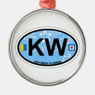 Key West. Silver-Colored Round Ornament