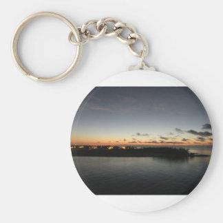 Key West Sunrise Basic Round Button Keychain