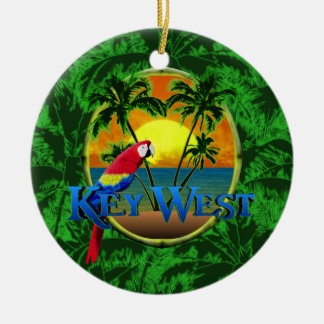 Key West Sunset Ceramic Ornament