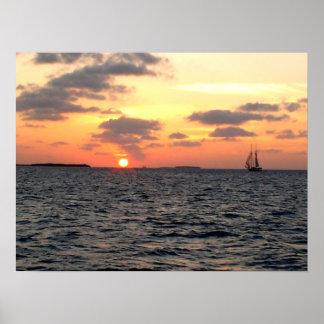 Key West sunset - Florida Poster