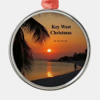 Key West Sunset Metal Ornament