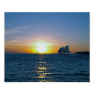 Key West sunset Poster