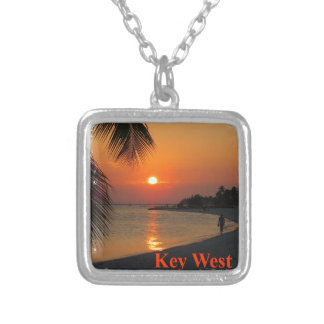 Key West Sunset Silver Plated Necklace
