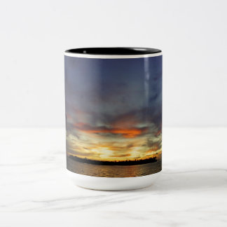 Key West Sunset Two-Tone Coffee Mug