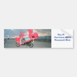 Key West Tacky Scooter Bumper Sticker