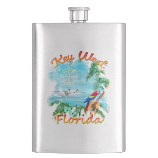 Key West Tropical Rock Hip Flask