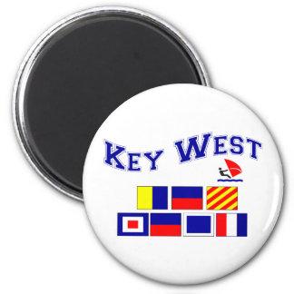 Key West  w/ Maritime Flags Magnet