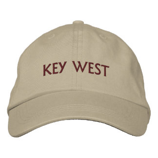 Key West Wording Custom Color and Text Embroidered Hat