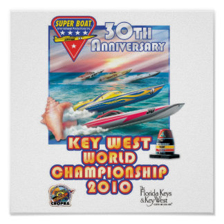 key west world championship poster. poster