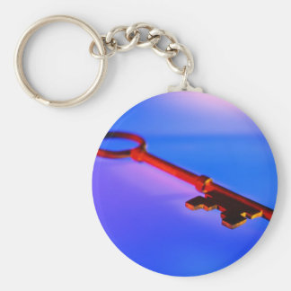 KEY WITH BLUE BACKGROUND KEYCHAINS