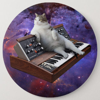 keyboard cat - cat memes - crazy cat 6 inch round button