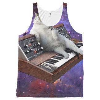 keyboard cat - cat memes - crazy cat All-Over-Print tank top