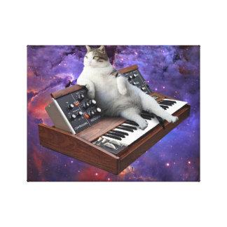 keyboard cat - cat memes - crazy cat canvas print