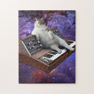 keyboard cat - cat memes - crazy cat jigsaw puzzle