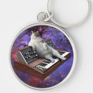 keyboard cat - cat memes - crazy cat keychain