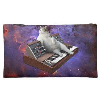 keyboard cat - cat memes - crazy cat makeup bag
