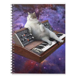 keyboard cat - cat memes - crazy cat spiral notebook
