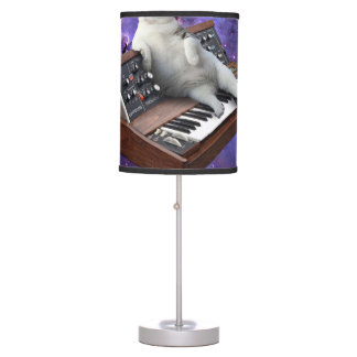 keyboard cat - cat memes - crazy cat table lamp