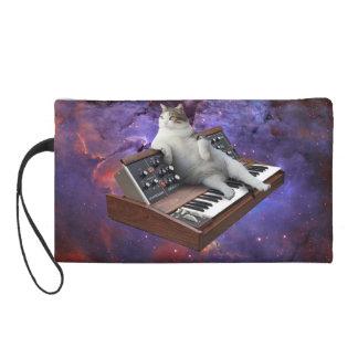 keyboard cat - cat memes - crazy cat wristlet