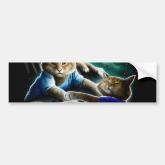 keyboard cat - cat music - cat memes bumper sticker