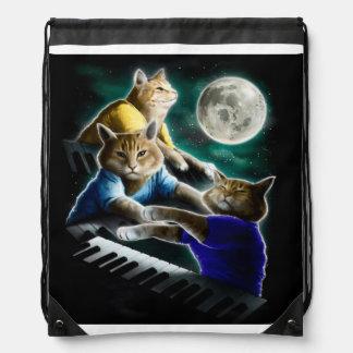 keyboard cat - cat music - cat memes drawstring bag
