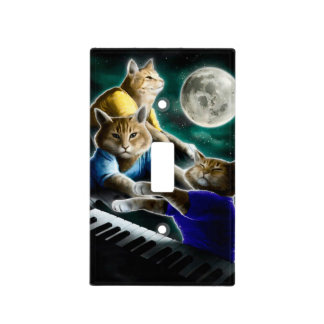 keyboard cat - cat music - cat memes light switch cover