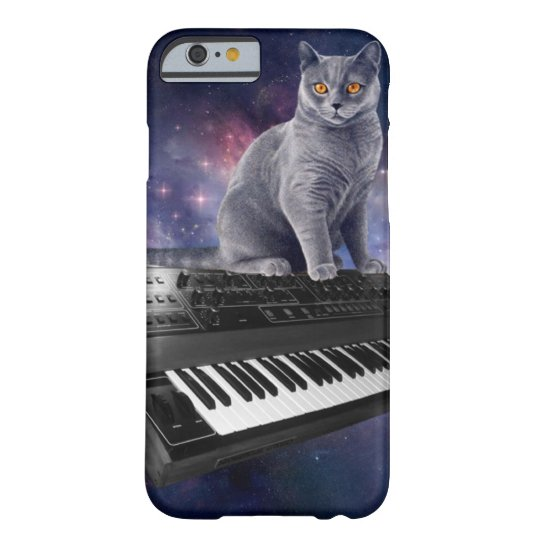 keyboard cat - cat music - space cat barely there iPhone 6 case