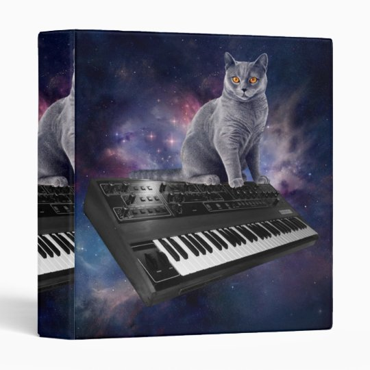 keyboard cat - cat music - space cat binders