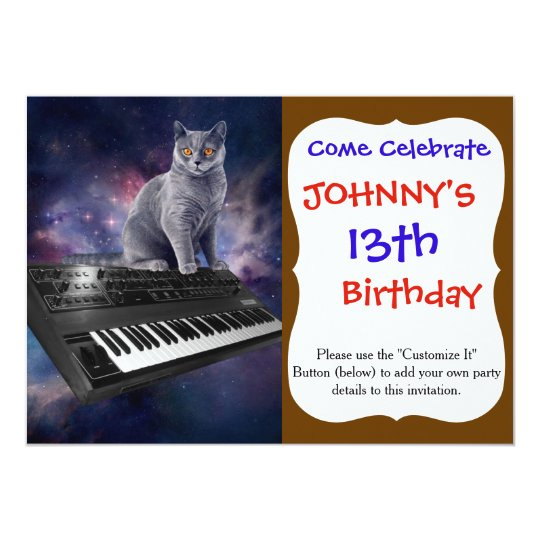 keyboard cat - cat music - space cat card
