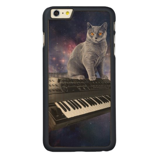 keyboard cat - cat music - space cat carved® maple iPhone 6 plus case