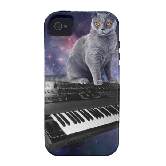 keyboard cat - cat music - space cat Case-Mate iPhone 4 cases