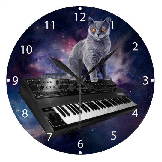 keyboard cat - cat music - space cat clocks
