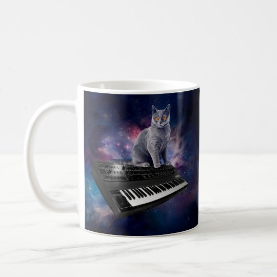keyboard cat - cat music - space cat coffee mug