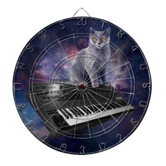 keyboard cat - cat music - space cat dartboard