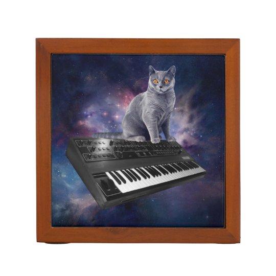 keyboard cat - cat music - space cat desk organizer