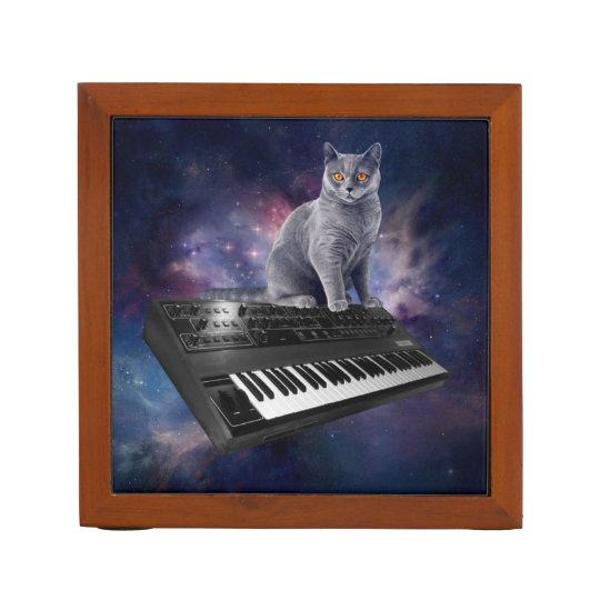 keyboard cat - cat music - space cat desk organizers