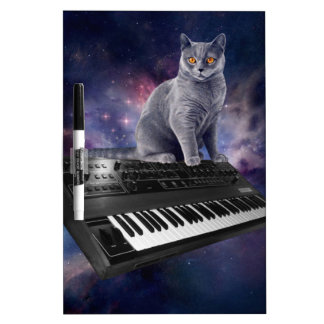 keyboard cat - cat music - space cat dry erase board