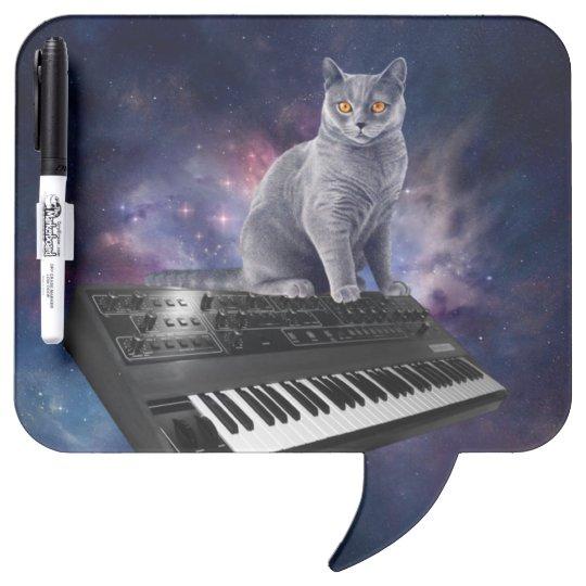 keyboard cat - cat music - space cat dry erase board