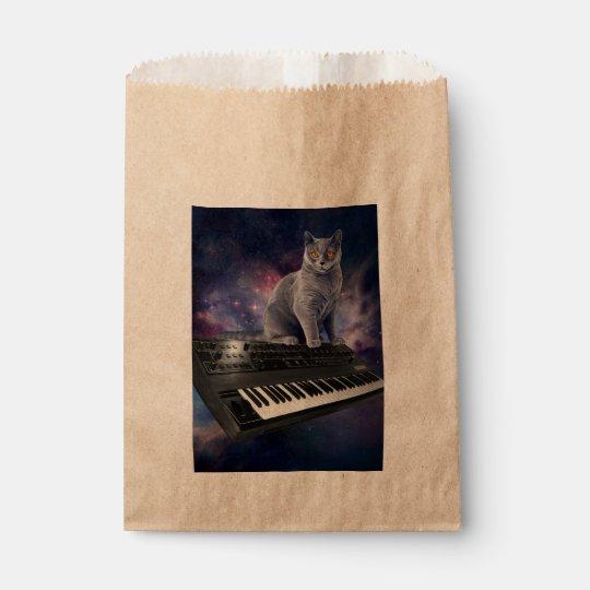 keyboard cat - cat music - space cat favour bag