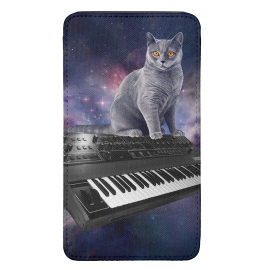 keyboard cat - cat music - space cat galaxy s5 pouch