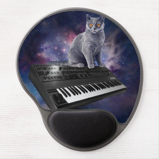 keyboard cat - cat music - space cat gel mouse pad